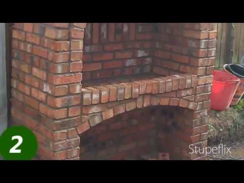 Brick BBQ with arch (please look at my electric griddle lifter in my videos)