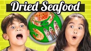 KIDS vs. FOOD - DRIED SEAFOOD (Shrimp, Squid, Sardines!!)