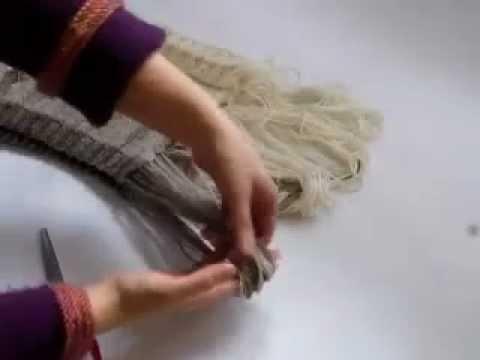 comment tricoter echarpe avec franges