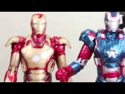Iron Man 3 Marvel Legends Iron Patriot Iron Monger Build A Figure Wave Movie Figure Review