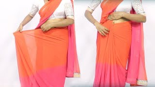 How To Wear A Saree Super Easy and Perfect Way In 3 Mins