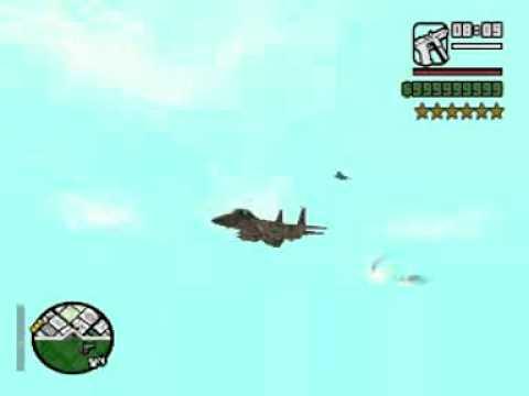 AVION F-15 EN GTA SAN ANDREAS (6 estrellas y guerra de F-15), es mejor que el hy