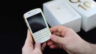 BlackBerry Q10 Gold Special Edition - мини Обзор смартфона
