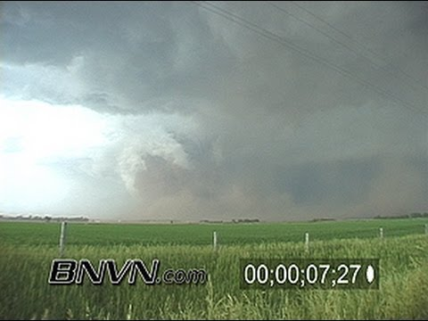 6/9/2003 O'Neill Nebraska Dusty Tornado Stock Video
