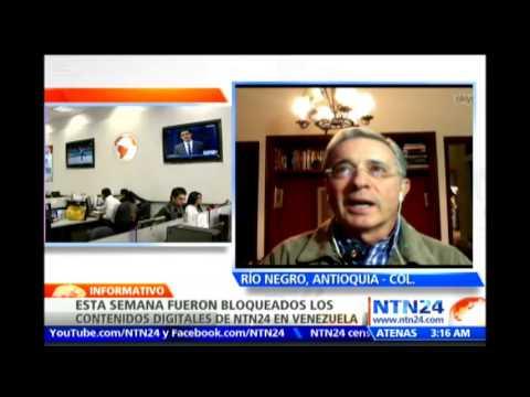 Expresidente Álvaro Uribe habla para NTN24 sobre expulsión de Lorent Saleh de Colombia