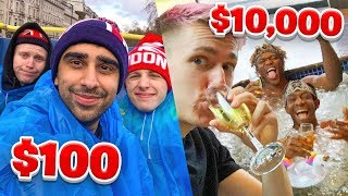 SIDEMEN $10,000 VS $100 HOLIDAY