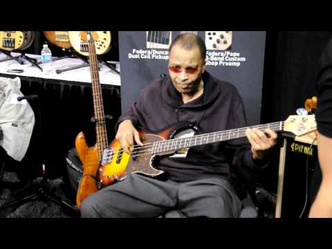 James Jamerson JR : Signed, Sealed &amp; Delivered NAMM 2012 Fodera Booth