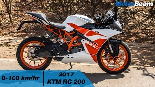 5 Changes In 2017 KTM RC 200 - 0-100 km/hr & Top Speed | MotorBeam