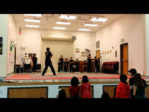 Kung Fu Dragon USA performance Kolb elementary school