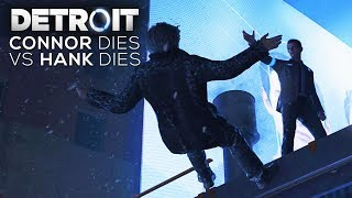 Connor Dies vs Hank Dies (Moment of Truth) - DETROIT BECOME HUMAN