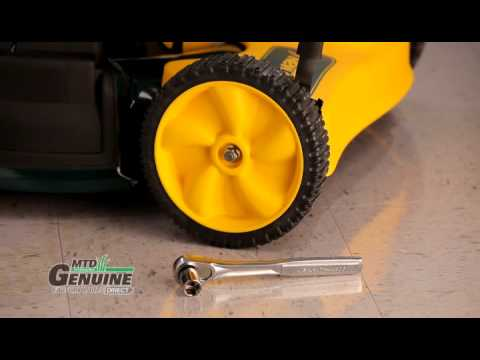 How-To Replace a Push Mower Wheel