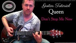 Don't Stop Me Now - Queen - guitar solo tutorial