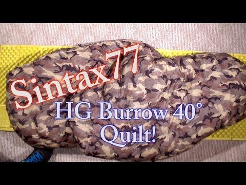 Hammock Gear Burrow 40 - Down Top Quilt Review