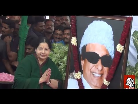 After 8 months, Jayalalithaa  First Public Appearance | MGR Statue