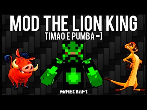 [Tutorial]MOD The Lion King - Timão e Pumba Minecraft
