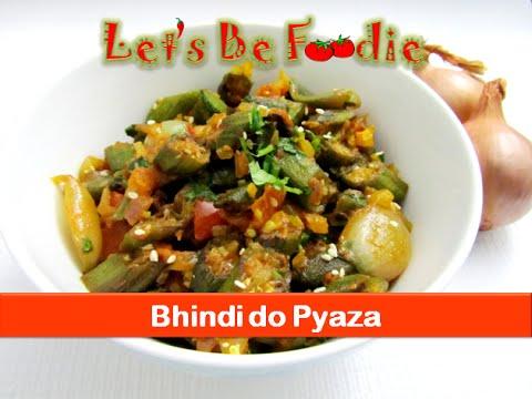 Bhindi do pyaza recipe/India veg okra fry dinner lunch box sabji ...
