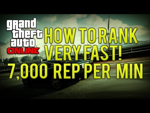 GTA ONLINE HOW TO RANK UP FAST 7,000 REP PER MINUTE (EASY REP)