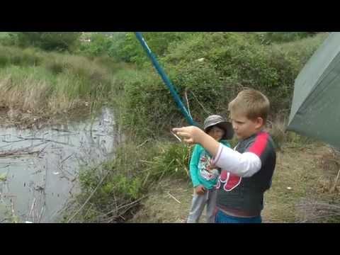 как ловить рыбу на удочку видео для детей