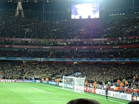 Dortmund Fans at Arsenal Dortmund Fans at The Emirates