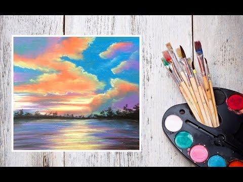 Видео как нарисовать закат Солнца