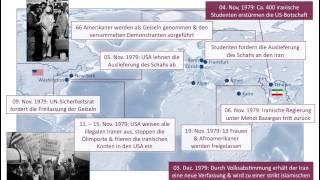 video 1979 nahmen iranische Studenten die Angehörigen der US-Botschaft als Geiseln. Dieser Vorfall sollte die Beziehungen zwischen dem Iran & den USA für die nächs...