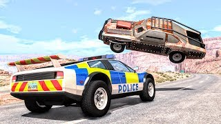 Crazy Police Chases #51 - BeamNG Drive Crashes