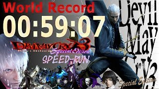Devil May Cry 3 SE New Game Normal Vergil SPEEDRUN {WR 59:07} PS4 HD COLLECTION