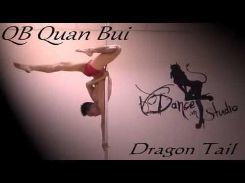 VDANCE Advanced Pole Dance Tutorials by QB Quan Bui - DRAGON TAIL