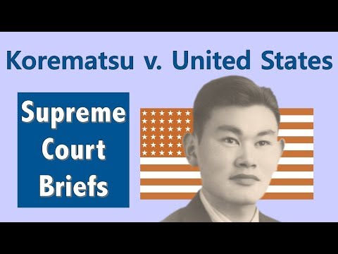 korematsu v united states Npr shop korematsu v united states korematsu v united states fred korematsu, whose fight against internment led all the way to the supreme court — and who later warned of acting against groups due to their race or religion — is being honored by several states today.