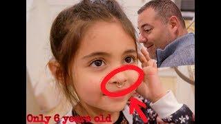 AVA GETS HER NOSE PIERCED PRANK ON DAD!!!