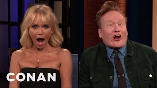 Kristin Chenoweth & Conan Compare Orgasm Faces - CONAN on TBS