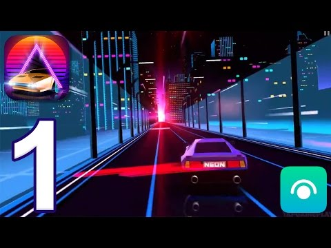 Neon Drive - Gameplay Walkthrough Part 1 - Level 1 (iOS)