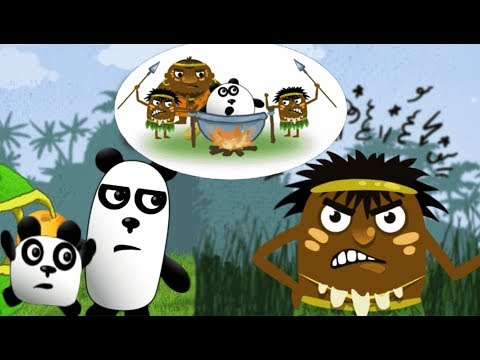 ТРИ ПАНДЫ индейцы схватили толстого СПАСЕНИЕ СРЕДНЕГО БРАТА в веселой игре для детей KIDS CHILDREN