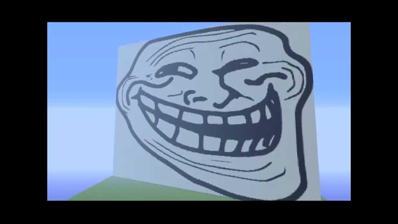 Minecraft Troll Face Pixelart YouTube
