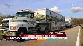 Three people arrested in  man