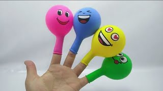 Learn Colors With Balloons Surprise Candy Kids Finger Family Song Nursery Rhymes