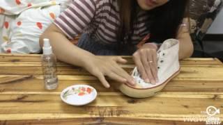 """Tẩy ố vàng đế giày với sản phẩm """"Magic Water For Shoes"""" - MADE IN VIETNAM by DUBOSHOP"""