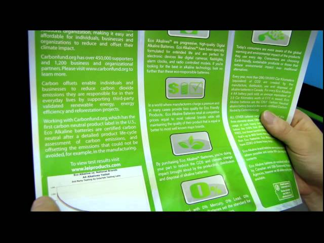Eco Alkalines Environmentally Friendly Battery Unboxing & First Look Linus Tech Tips