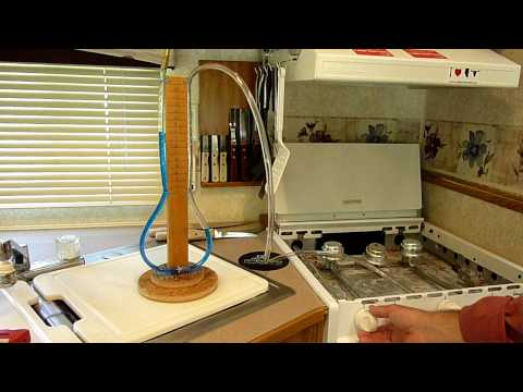 Manometer testing for propane leaks in RV gas system