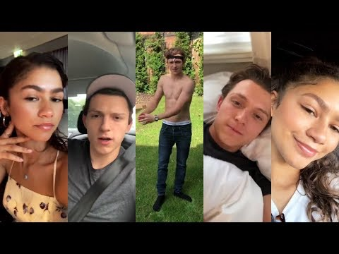 Tom Holland and Zendaya Instagram Stories / July-August 2018 thumbnail