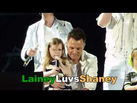 Westlife Croke Park 2010 Kids on stage!Nicole, Patrick and baby Shane Filan & Rocco and Jay Byrne