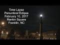 Penumbral Eclipse Time Lapse - Franklin, NC