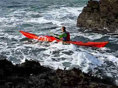 A tricky re entry sea kayaking