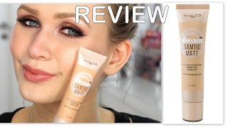 REVIEW MAYBELLINE DREAM SAMTIG MATT FOUNDATION | Creme-Gel Make-Up Test
