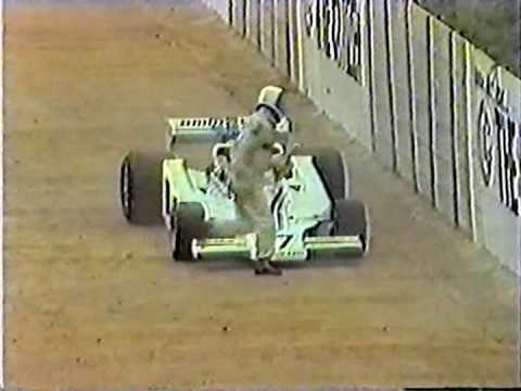 1977 - Tom Pryce crash live broadcast TV - Kyalami circuit
