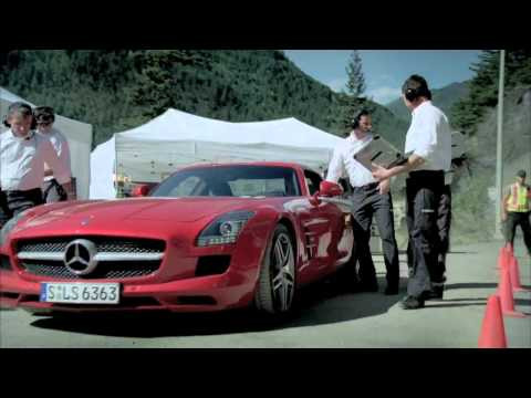 Michael Schumacher in the Mercedes Benz SLS AMG tunnel experiment - extended version.mp4