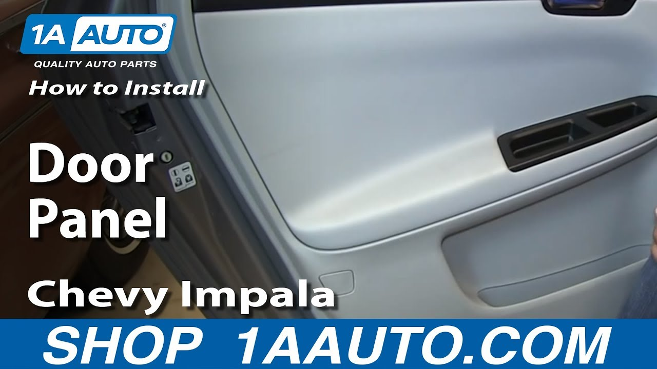 How To Install Remove Rear Inside Door Panel 2006 13 Chevy