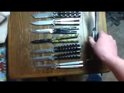 Butterfly knife collection