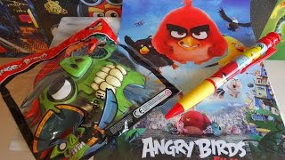 Angry Birds Surprise Toys Set Mask & Big Pen Unpacking Juguetes Sorpresa
