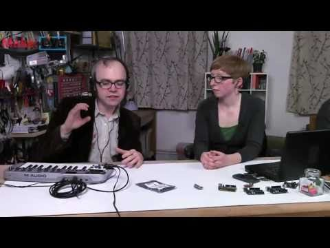 MidiVox Arduino Shield on Make: Live ep01